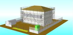 仮設CADシステムによる確実な施工